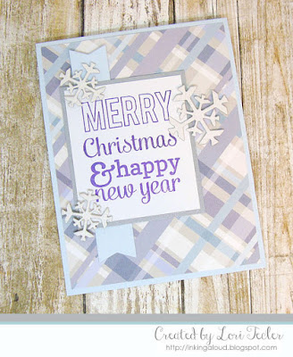 Merry Christmas and Happy New Year card-designed by Lori Tecler/Inking Aloud-stamps and dies from Reverse Confetti