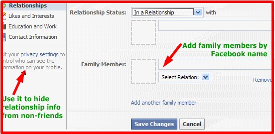 how to change relationship status on facebook without anyone knowing