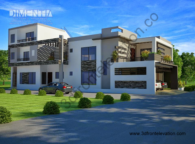 D Front Elevation Kanal : D front elevation kanal house plan layout sq