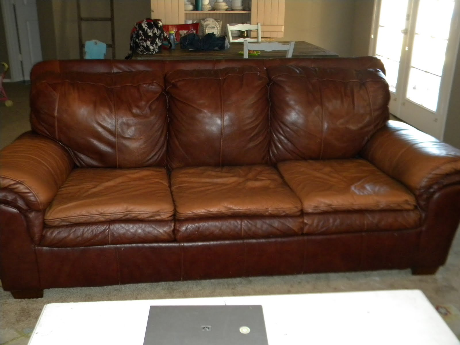 Couh Grand Design: Leather Couch And Chair