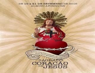 Paróquia de Almino Afonso divulga programação oficial da festa em honra ao Sagrado Coração de Jesus 2016