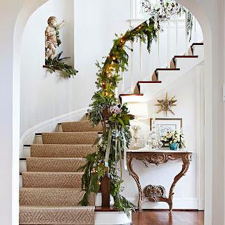 decoración escalera navidad