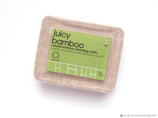 kaia naturals Juicy Bamboo Natural Facial Cleansing Cloths Review