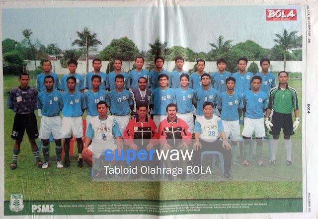 Poster Full Team PSMS MEDAN 1999