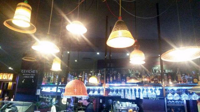 Detalle de lámparas en La Cevicuchería, Tusolovive Madrid