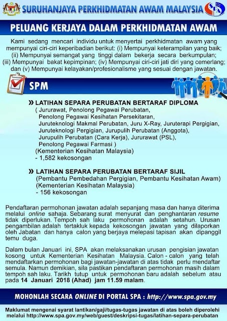 1738 Jawatan Kosong Kementerian Kesihatan Malaysia 2018