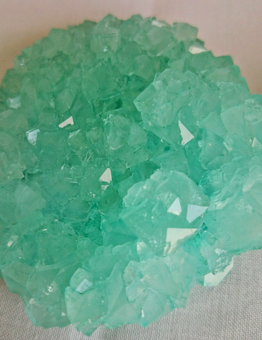Grow crystals with borax