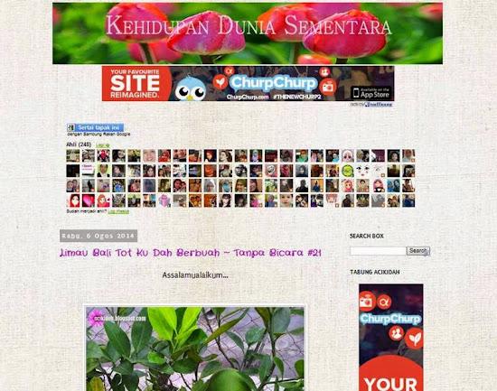 Wajah Baru Blog Sempena Anniversary