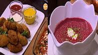 طريقة عمل دجاج بانيه - دجاج كروكيت - شوربة بنجر مع أميرة شنب في أميرة في المطبخ 17-1-2017