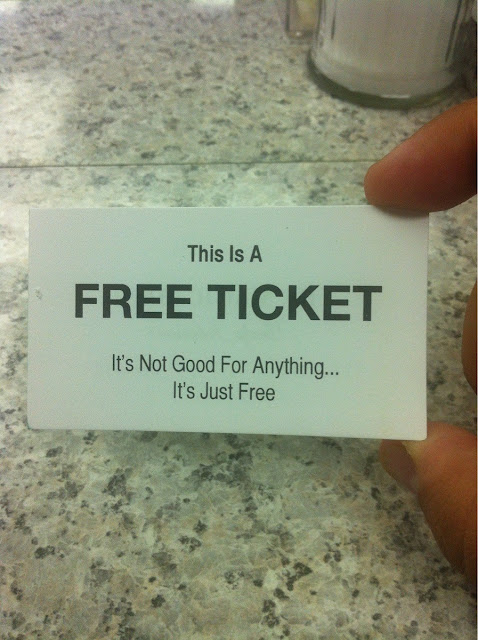 Funny Free Ticket Picture