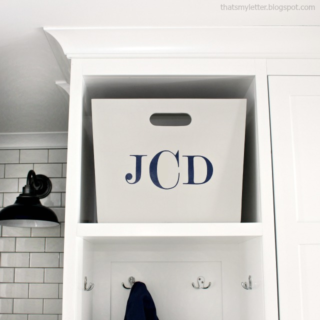 diy mudroom bins