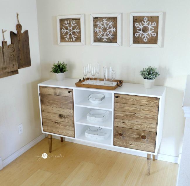 Modern Rustic Buffet, MyLove2Create