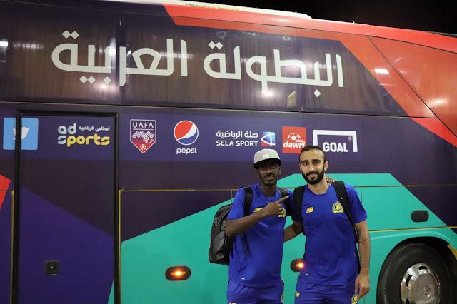 وصول بعثة نادي النصر السعودي ويرافقها البرازيلي برونو أوفيني من أجل المشاركة في البطولة العربية