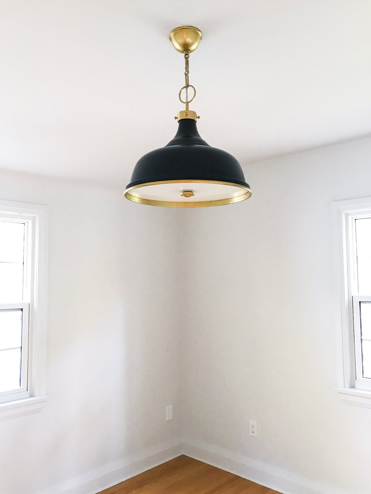 hudson valley lighting pendant, mark d sikes lighting, classic blue and brass large pendant