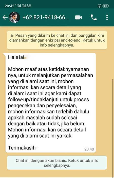 Dihubungi Bank BNI Via WhatsApp Apakah Penipuan?