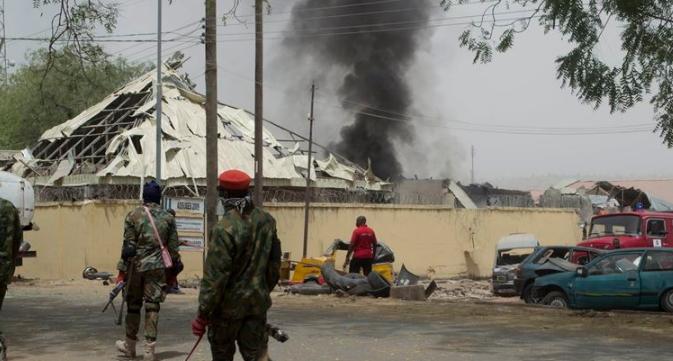 2 suicide bombers shot dead maiduguri