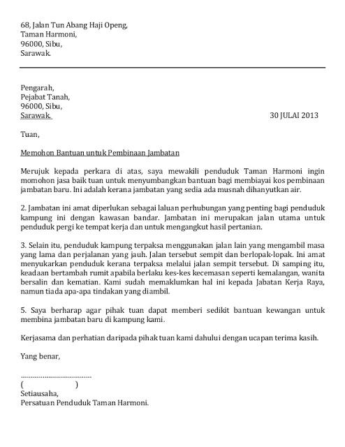 Contoh Surat Rayuan Yang Mudah dan Ringkas