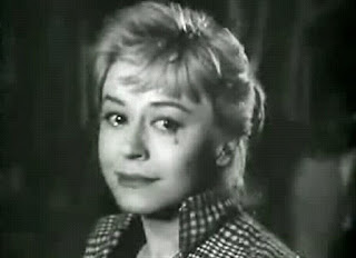 Giulietta Masini as Cabiria in the Fellini film Nights of Cabiria, for which she won a string of awards