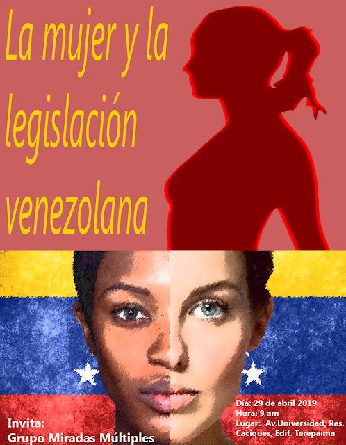 ab4233cbd8 Charla  La mujer y la legislación venezolana - lunes 29 de abril