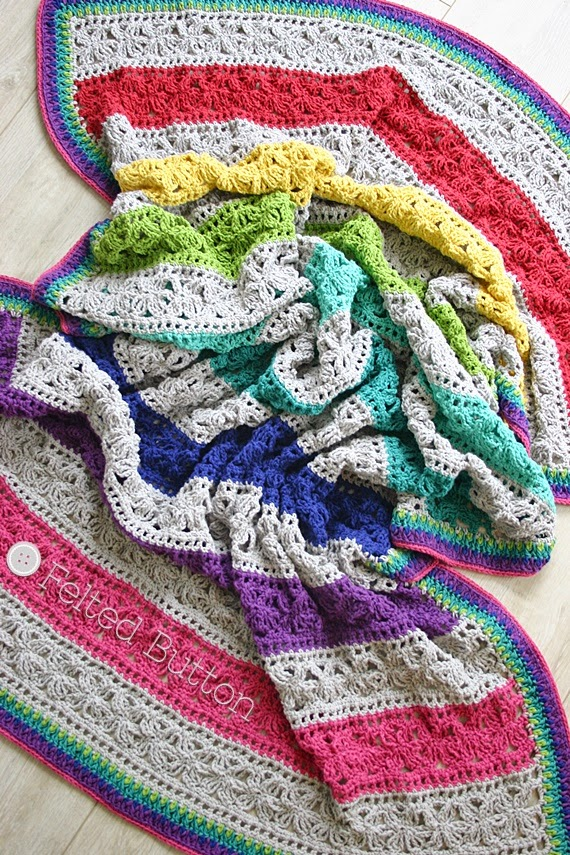 Felted Button Colorful Crochet Patterns Under The
