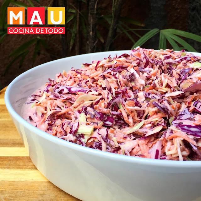 ensalada de repollo col cole slaw receta kentuky facil