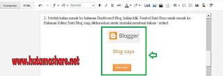 Proses Memasukkan Gambar ke Blog
