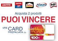 Logo Con Henkel fai la spesa in Conad vincendo card prepagate da 100 €