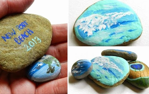 painted souvenir beach rocks