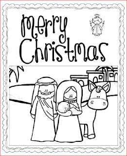 Nativity Cards - to color