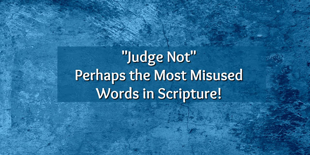 "This is a collection of 1-minute devotions addressing the misuse of ""Judge Not."" Most people who use that phrase don't actually know what it means."