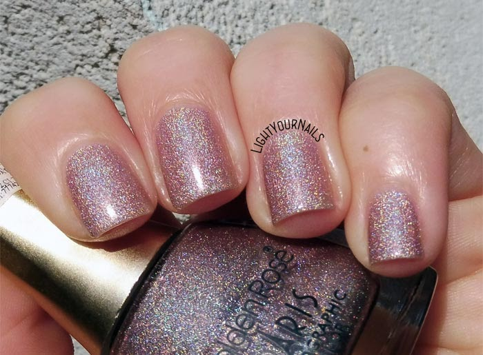 Smalto olografico nude rosa Golden Rose Paris Holographic 112 pink nude holographic nail polish