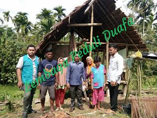 LPD ajak Bantu bangun rumah janda 4 anak, tinggal di Gubuk Tanpa Dinding, Aceh Utara