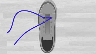 Cara Memasang Tali Sepatu Menyilang tutorial 2