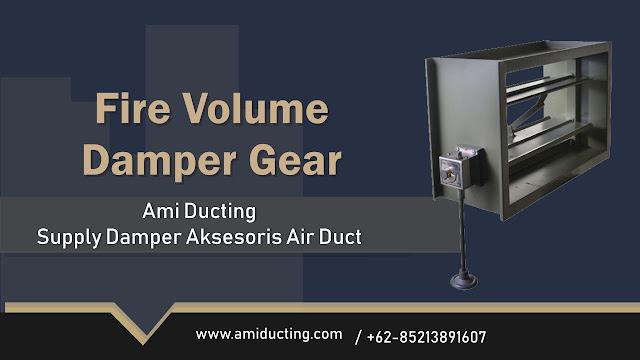 Volume Damper Gear Aksesoris Ducting