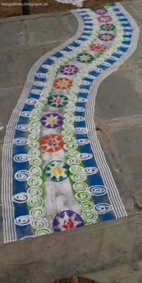 Creative Welcome Rangolis