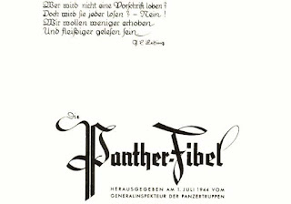 Pantherfibel 1944, (Panther users manual 1944).