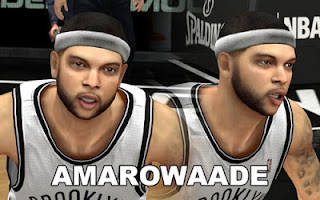 NBA 2K13 Brooklyn Nets Cyber Face Pack