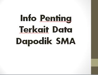 Info Penting Terkait Data Dapodik SMA