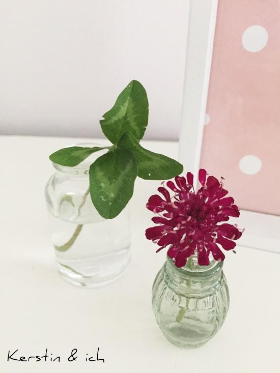 Deko Karten Blumen Kleeblatt