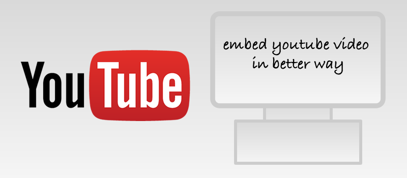 Embed youtube video without affecting the website performance