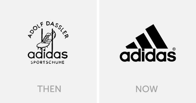 logo adidas dulu dan sekarang