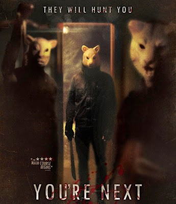 Poster Of Hollywood Film You're Next (2011) In 300MB Compressed Size PC Movie Free Download At worldfree4u.com