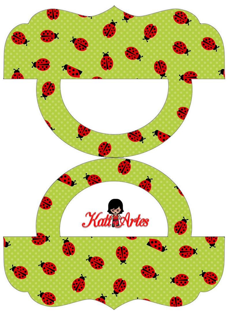 Mariquitas: Etiquetas para Bolsas de Golosinas para Imprimir Gratis.