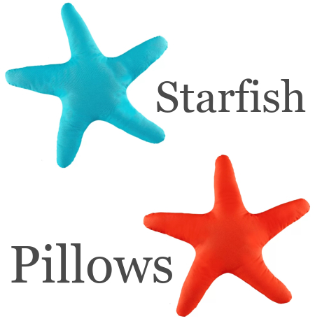 Starfish Shaped Pillows