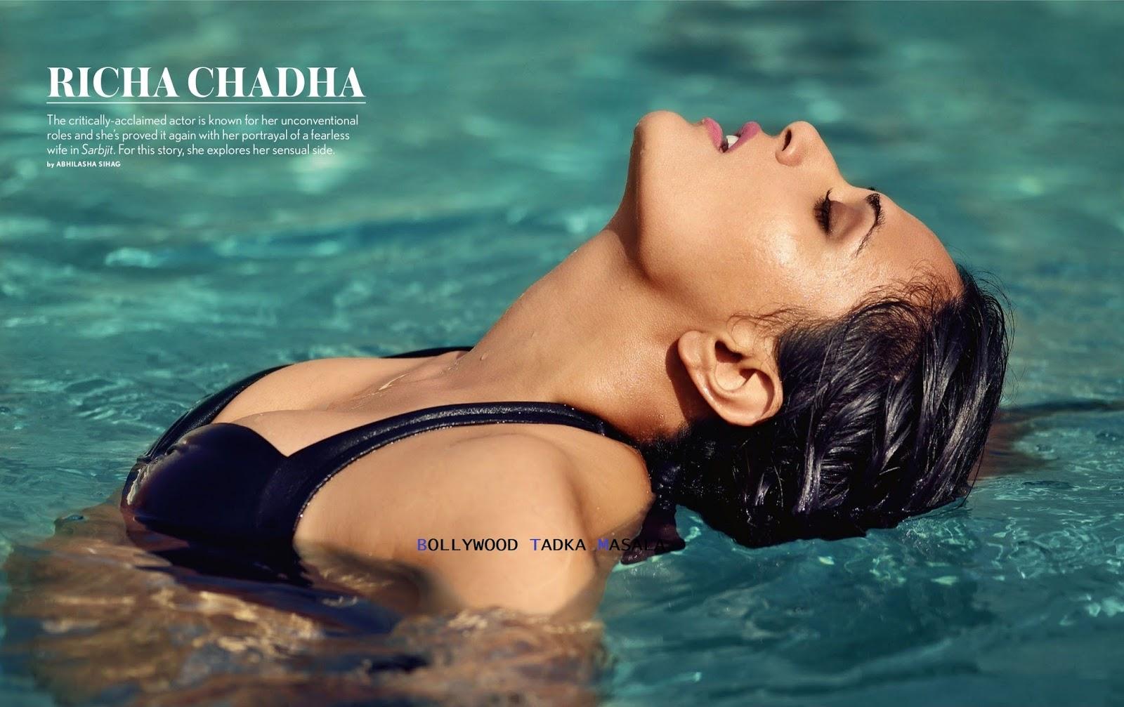 Richa Chadha Sizzles in Bikini for Maxim India Magazine May 2016