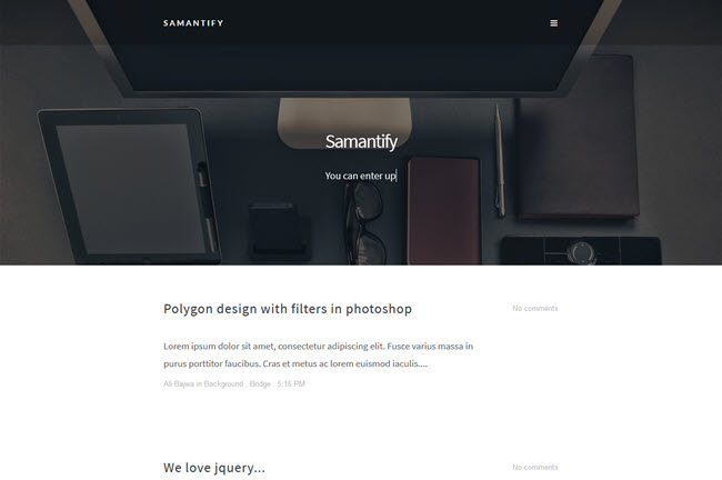 Samantify - Responsive Blogger Template