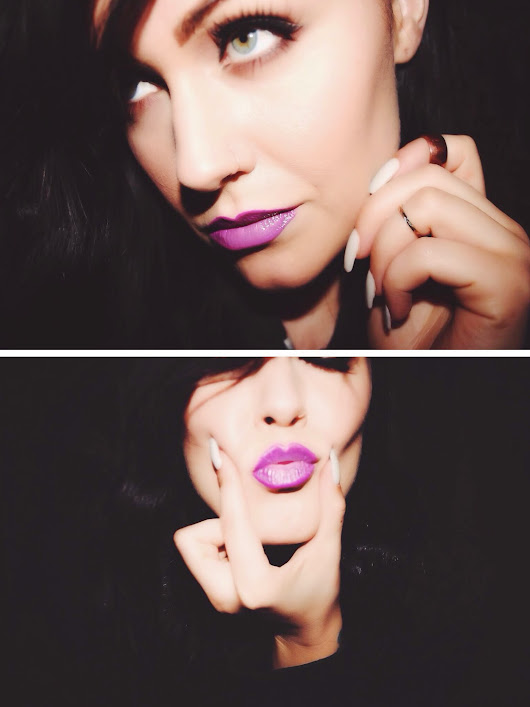 Bright Purple Lips: MAC Heroine Lipstick