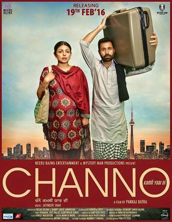 Poster Of Channo Kamli Yaar Di 2016 Punjabi 130MB HDRip HEVC Mobile Watch Online Free Download Worldfree4u
