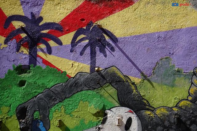 Murale nel quartiere di Vallcarca, Barcellona