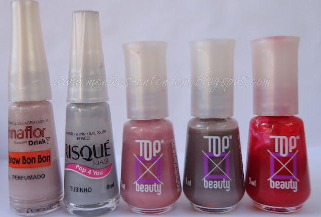Esmaltes Top Beauty, Risque e Fina Flor